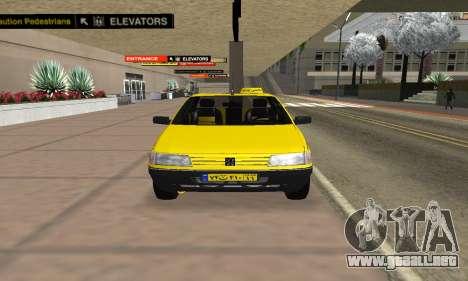 Peugeot 405 Roa Taxi para la visión correcta GTA San Andreas