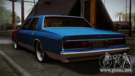 Chevy Caprice Hustler & Flow para GTA San Andreas left