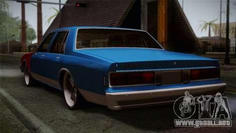 Chevy Caprice Hustler & Flow para GTA San Andreas left
