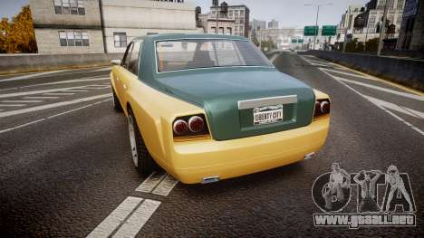 Enus Super Diamond 2 Colors para GTA 4 Vista posterior izquierda