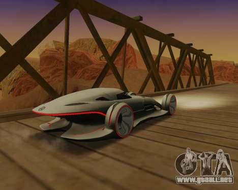 Mercedes-Benz Silver Arrows para la visión correcta GTA San Andreas