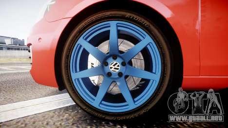 Volkswagen Golf Mk6 GTI rims3 para GTA 4 vista hacia atrás