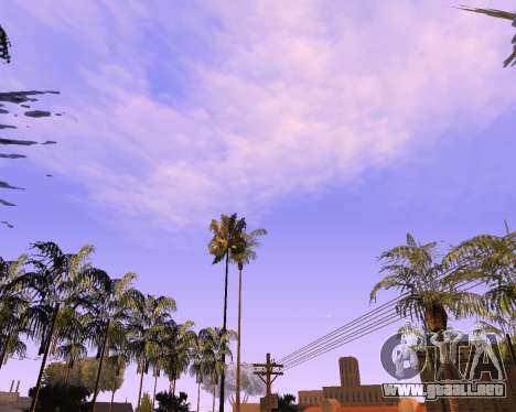 Nuevo nubes y Colormod para GTA San Andreas segunda pantalla
