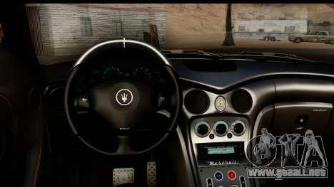 Maserati Gransport 2006 para visión interna GTA San Andreas