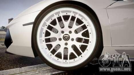 Lamborghini Aventador Hamann Limited 2014 [EPM] para GTA 4 vista hacia atrás
