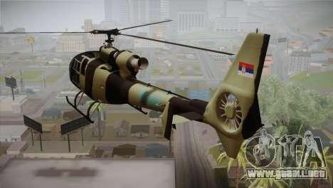 SA 342 Serbian Police Gazelle CAMO para GTA San Andreas left