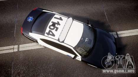 Dodge Charger 2010 LCPD [ELS] para GTA 4 visión correcta