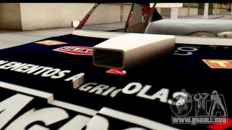 Chevrolet Series 2 Turismo Carretera Mouras para GTA San Andreas vista hacia atrás
