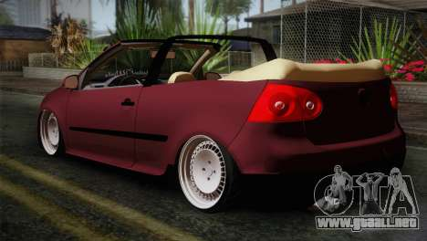 Volkswagen Golf 5 para GTA San Andreas left