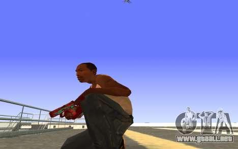 Glock-18 agua CS:GO para GTA San Andreas segunda pantalla