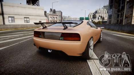 Grotti Turismo GT Carbon para GTA 4 Vista posterior izquierda