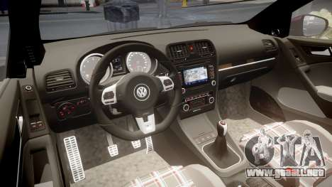 Volkswagen Golf Mk6 GTI rims1 para GTA 4 vista interior