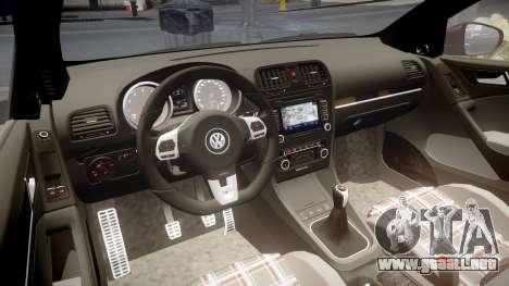 Volkswagen Golf Mk6 GTI rims3 para GTA 4 vista interior