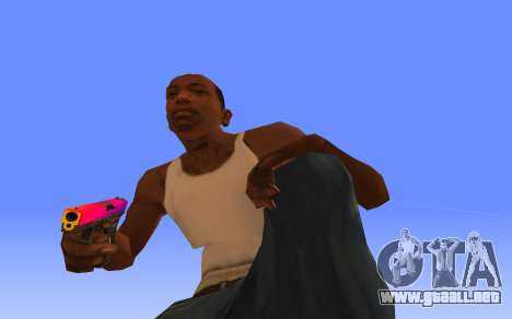 Glock-18 gradiente de CS:GO para GTA San Andreas segunda pantalla