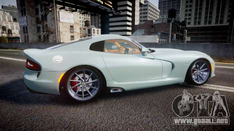 Dodge Viper SRT 2013 rims3 para GTA 4 left