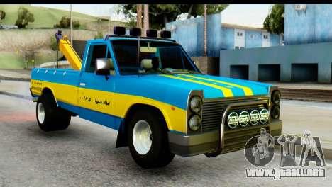 Nissan Junior 1982 Pickup Towtruck para GTA San Andreas