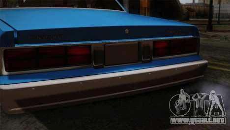 Chevy Caprice Hustler & Flow para GTA San Andreas vista hacia atrás