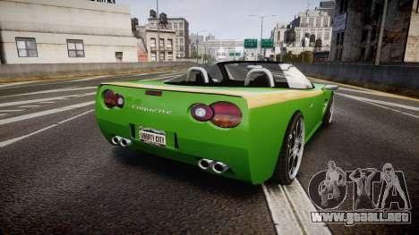 Invetero Coquette Roadster para GTA 4 Vista posterior izquierda