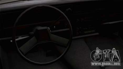 Chevy Caprice Hustler & Flow para la visión correcta GTA San Andreas