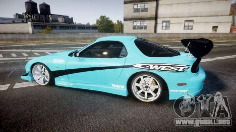 Mazda RX-7 C-West para GTA 4 left