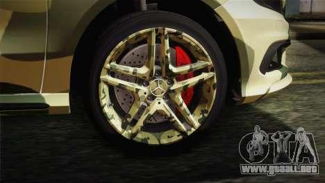 Mercedes-Benz A45 AMG Camo Edition para GTA San Andreas vista posterior izquierda