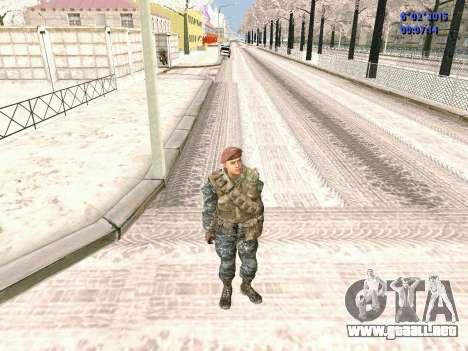 Las fuerzas especiales de la URSS CoD Black Ops para GTA San Andreas segunda pantalla