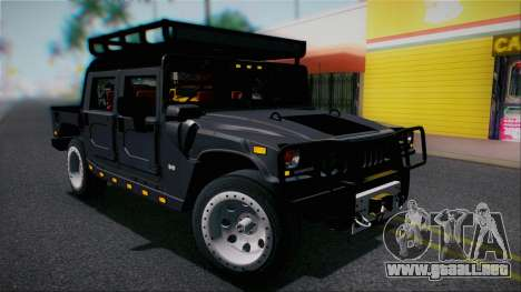 Hummer H1 Alpha OpenTop 2006 Stock para vista lateral GTA San Andreas
