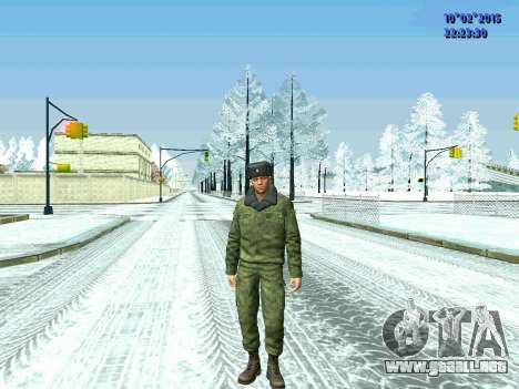Pak militar de la Federación de rusia en el invi para GTA San Andreas tercera pantalla