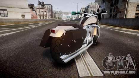 GTA V Western Motorcycle Company Bagger para GTA 4 Vista posterior izquierda