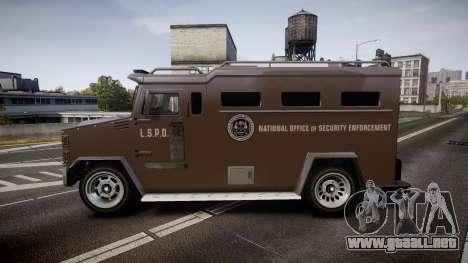 GTA V Brute Police Riot para GTA 4 left