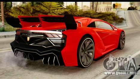GTA 5 Pegassi Zentorno v2 IVF para GTA San Andreas left