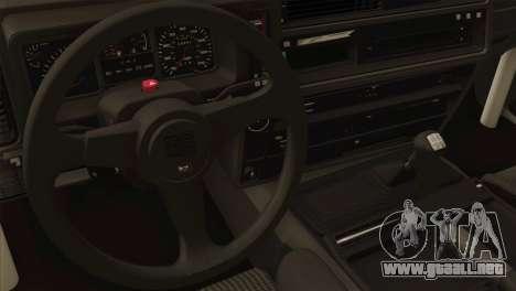 Ford Sierra Sapphire 4x4 RS Cosworth para GTA San Andreas vista hacia atrás