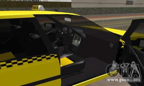 Peugeot 405 Roa Taxi para visión interna GTA San Andreas