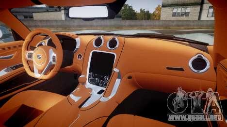 Dodge Viper SRT 2013 rims3 para GTA 4 vista hacia atrás