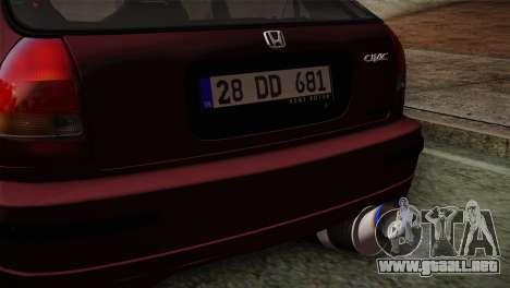 Honda Civic 1.4i S TMC para la visión correcta GTA San Andreas