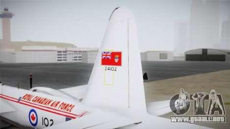 P2V-7 Lockheed Neptune JMSDF para GTA San Andreas vista posterior izquierda