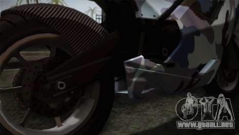 GTA 5 Bati Blue para GTA San Andreas vista hacia atrás