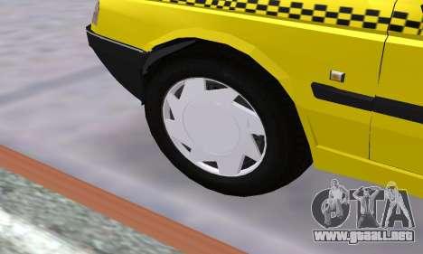 Peugeot 405 Roa Taxi para vista inferior GTA San Andreas