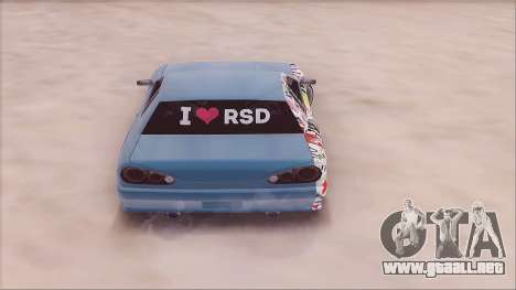 RSD Elegy para GTA San Andreas vista posterior izquierda
