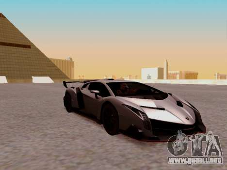 Lamborghini Veneno para GTA San Andreas vista posterior izquierda