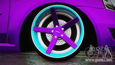 Dacia Logan Purple-Blue para GTA San Andreas vista posterior izquierda