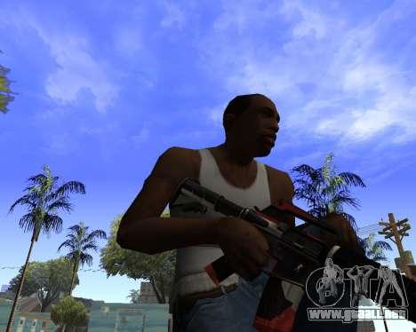 M4A1-S Syrex CS:GO para GTA San Andreas tercera pantalla