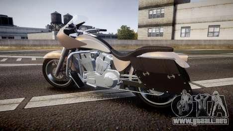 GTA V Western Motorcycle Company Bagger para GTA 4 left