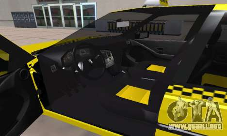 Peugeot 405 Roa Taxi para vista lateral GTA San Andreas
