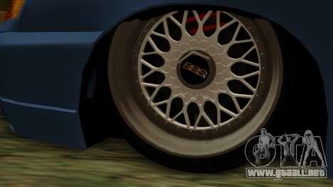 ВАЗ 2112 Feliz Gota Amigos para GTA San Andreas vista posterior izquierda