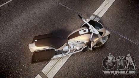GTA V Western Motorcycle Company Bagger para GTA 4 visión correcta
