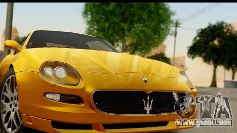 Maserati Gransport 2006 para GTA San Andreas vista posterior izquierda