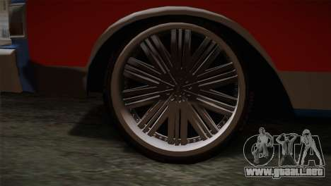 Chevy Caprice Hustler & Flow para GTA San Andreas vista posterior izquierda