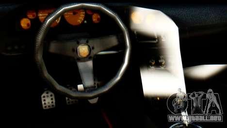 GTA 5 Pegassi Zentorno v2 IVF para GTA San Andreas vista hacia atrás
