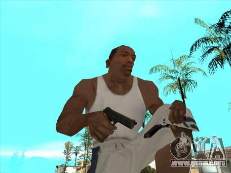 Ruso metralletas para GTA San Andreas novena de pantalla